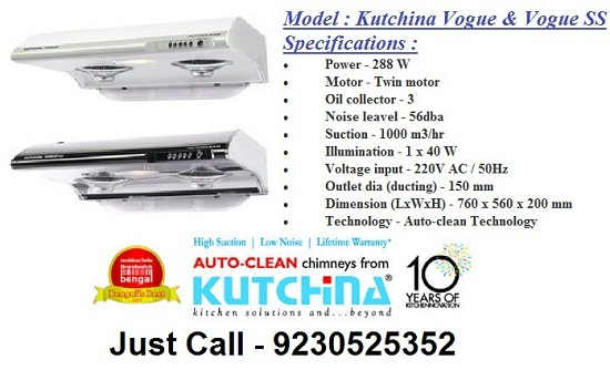Kutchina Kitchen Chimney In Kolkata Baguiati Modular